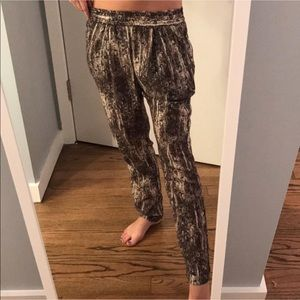 Zara sequin PRINT relaxed trouser pant